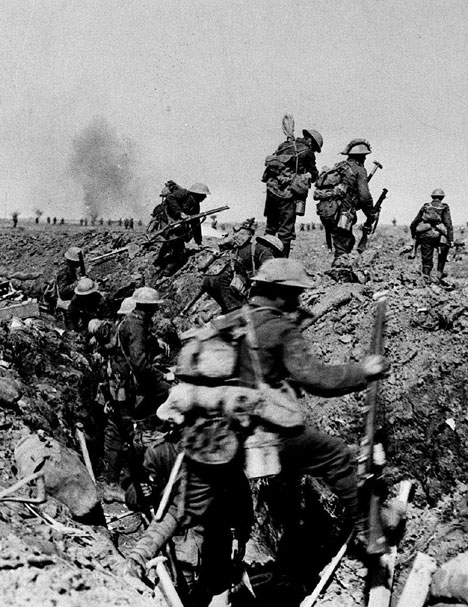 Day along the trenches