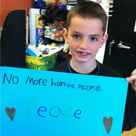 No more hurting people. (Martin Richard).