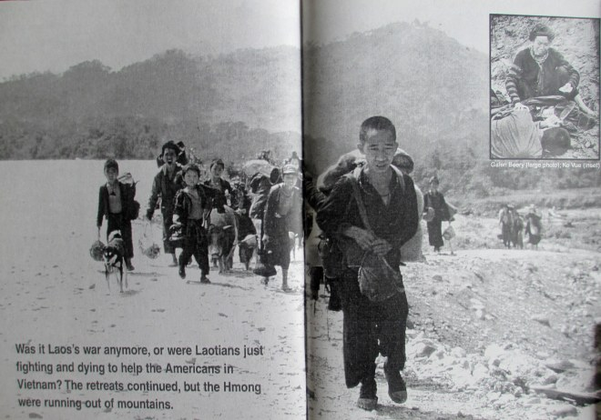 Displaced Hmong in Laos, probably in the early 1970s. Source: Roger Warner. 1998.