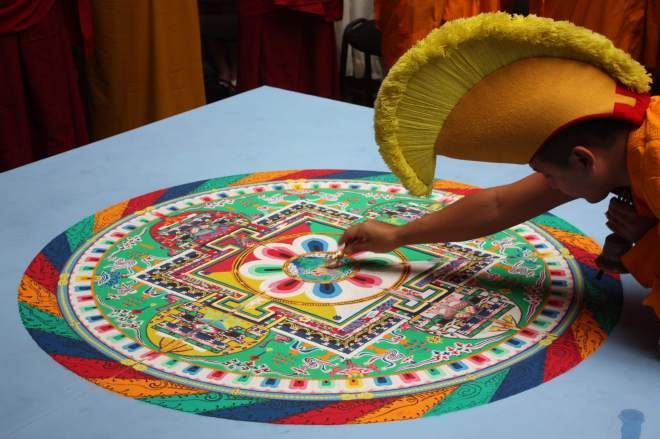 Tibetan sand painting (mandala). Source: wikicommons.
