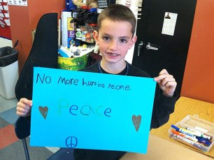 Martin Richard, 8, who was tragically killed in the 2013 Boston Marathon bombing. (Photo by Lucia Brawley).