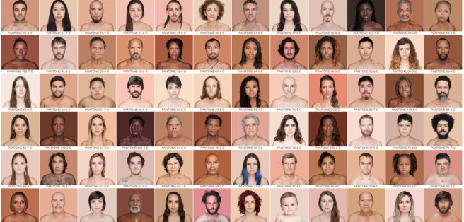 A variety of skin colors. From the Humanae Project, by Angelica Dass (source).